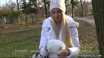teen euro amateur slut seduces tourist for public.