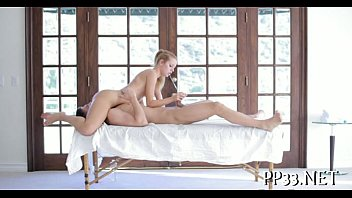 oil massage with wet oral