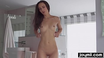 joymii- hot babe lilu rides big dildo and.