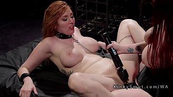 huge tits redhead slave got anal.
