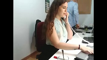 girl strips at work on webcam.