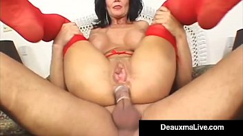 horny housewife deauxma takes a cock in her.
