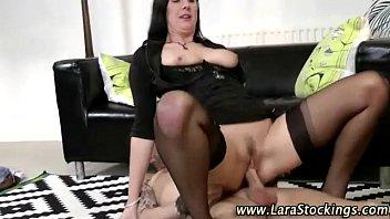 milf stocking slut suck and fuck
