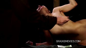 young slave&rsquo_s pussy spanked