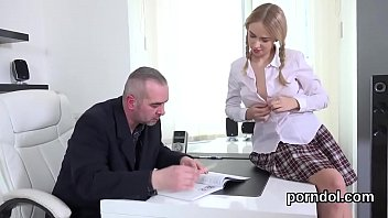 fervid schoolgirl is seduced and shagged by her.