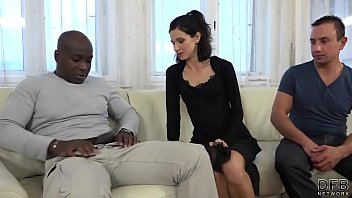 cuckold training wife fucks black man in front.