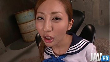 erena aihara has her sweet pussy toyed inside.