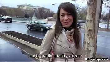 public dick sucking with czech amateur teen for.