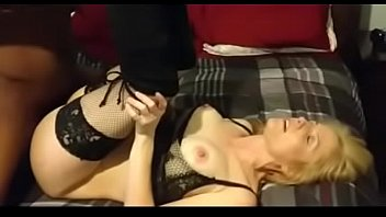 sexy milf in lingerie enjoying her 1st bbc.