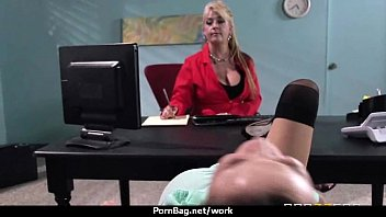 big tits cutie fucks her coworker in their.