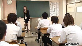 naughty teacher teaches her studens a.