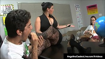 bbw teacher angelina castro makes roxanne to do.