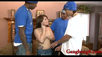 cute babe takes black cocks in all her.