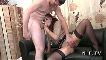 amateur french couple doing anal sex on our.