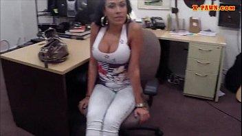 latina chick hard banged by pawn man in.