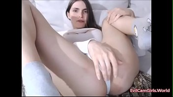 cute tranny playing with her self - watch.