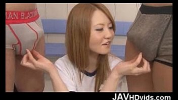 lovely asian chick gets nasty in the locker room