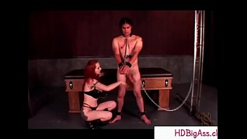 bdsm mistress ass slapping her male.