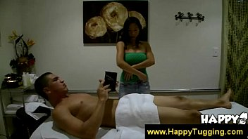 asian masseuse gives guy oral pleasure