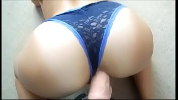 www.adddictedpussy.com - cute butt with panties gets her.