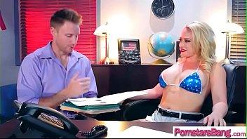 hardcore sex on huge dick with pornstar girl.
