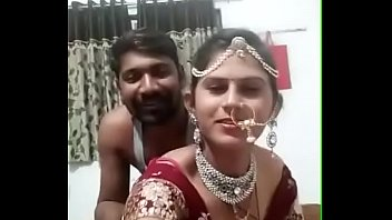 suhagraat bhabhi smooch boob press