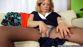 american gilf cristine gets horny in.