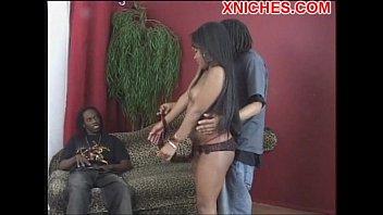 black girl sucks two black dicks