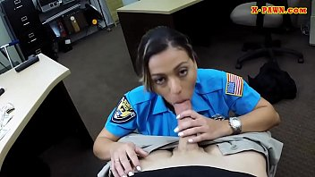 big ass officer gets banged by.