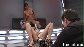 machine dyke riding sybian after sixtynine