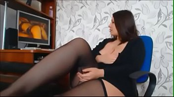 chubby brunette masturbating on cam - watch her.