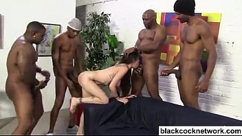 interracial creampie with 7 black cocks
