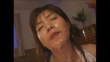 hot asian with facial cum blowjobs two guys.