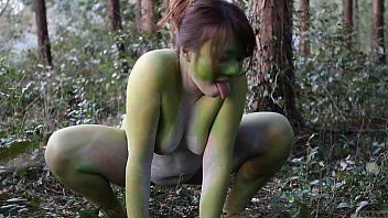 stark naked japanese fat frog lady in the.