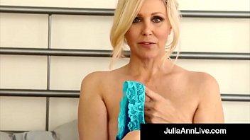 busty cougar julia ann in bras panties &amp_.