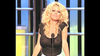 pamela anderson busty in a see-thru.