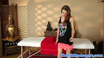 seductive amateur babe screwed by masseur