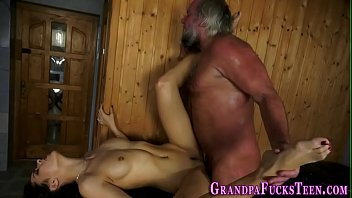 latina spunked by old man