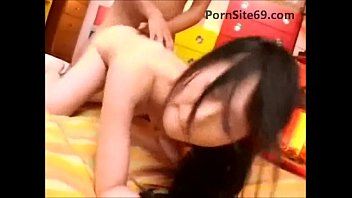 horny young asian gets creampie in.