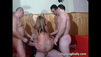 france gang bang action with horny.