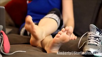goddess takes off sneakers after workout part 1- www.prettyfeetvideo.com