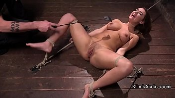 bondage brunette spanked and tormented