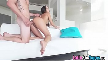 small tits latina with banging body fucking her boss