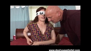 blindfolded slut wife with big tits.