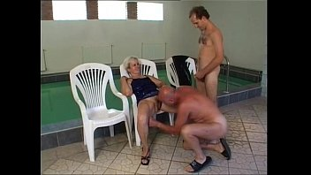 granny piss and fuck at pool.