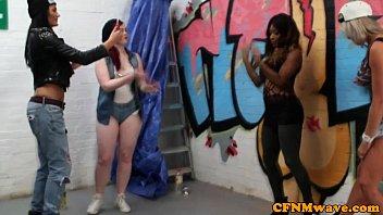 femdom street artist lissa love gives.