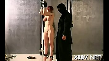 fastened up woman forced to endure severe bdsm.