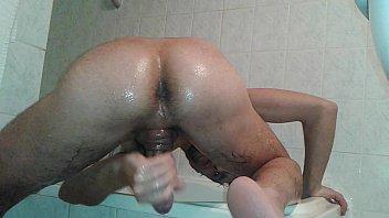 boy with nice ass get oiled handjob - cumshot