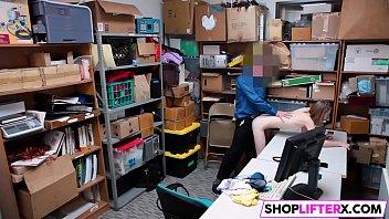 shoplifting gal catarina gets drilled