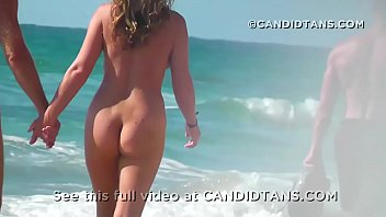 milf mom fully naked on the beach in.